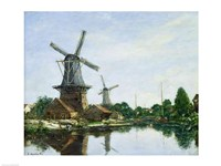 Dutch Windmills, 1884 by Eugene Louis Boudin, 1884 - various sizes