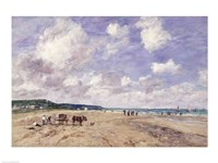 The Beach at Tourgeville, 1893 Fine Art Print