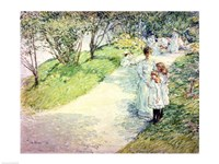 Promenaders in the garden, 1898 Fine Art Print