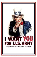 Uncle Sam  - I Want You Fine Art Print
