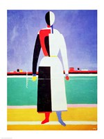 Woman with a Rake by Kazimir Malevich - various sizes