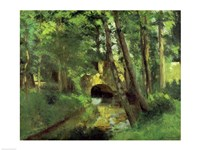 The Little Bridge, Pontoise, 1875 Fine Art Print