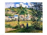 Landscape at Chaponval, 1880 Fine Art Print