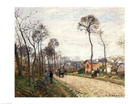 The Road from Louveciennes, 1870 Fine Art Print
