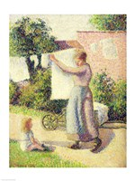 Woman Hanging up the Washing, 1887 by Camille Pissarro, 1887 - various sizes