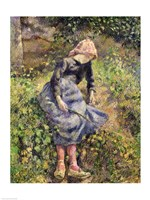 Girl with a Stick, 1881 Fine Art Print