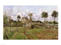 Landscape, Louveciennes by Camille Pissarro - various sizes