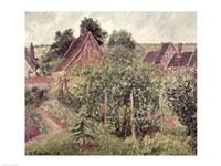 Landscape with Cottage Roofs, 1899 Fine Art Print