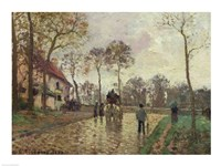 The Coach to Louveciennes, 1870 by Camille Pissarro, 1870 - various sizes