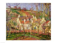 The Red Roofs, or Corner of a Village, Winter, 1877 by Camille Pissarro, 1877 - various sizes, FulcrumGallery.com brand