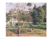 Vegetable Garden at the Hermitage, Pontoise, 1879 Fine Art Print