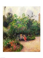 A Corner of the Garden at the Hermitage, Pontoise, 1877 Fine Art Print