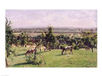 Hillside of Vesinet, Yvelines, 1871 Fine Art Print