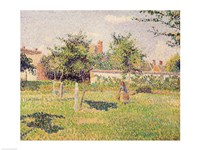 Woman in the Meadow at Eragny, Spring, 1887 by Camille Pissarro, 1887 - various sizes