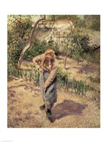 Woman Digging in an Orchard, 1882 Fine Art Print