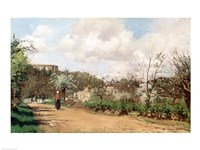 View from Louveciennes-70, 1869 by Camille Pissarro, 1869 - various sizes
