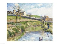 The Farm at Osny, 1883 Fine Art Print