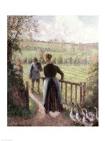 The Woman with the Geese, 1895 by Camille Pissarro, 1895 - various sizes