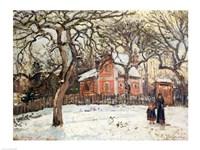 Chestnut Trees at Louveciennes, c.1871-2 Fine Art Print