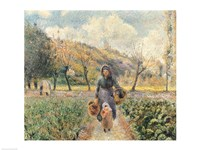 In the Garden by Camille Pissarro - various sizes