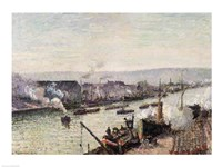 Saint-Sever Port, Rouen, 1896 by Camille Pissarro, 1896 - various sizes