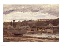 Ferry at Varenne-Saint-Hilaire, 1864 by Camille Pissarro, 1864 - various sizes
