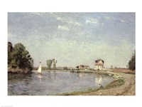 At the River's Edge, 1871 by Camille Pissarro, 1871 - various sizes