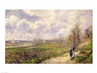 La Sente du Chou, near Pontoise, 1878 by Camille Pissarro, 1878 - various sizes