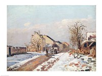 The Road from Gisors to Pontoise, Snow Effect, 1872 by Camille Pissarro, 1872 - various sizes