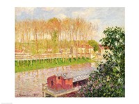 Sunset at Moret-sur-Loing, 1901 Fine Art Print