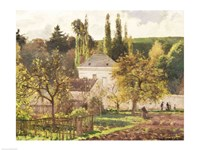 House in the Hermitage, Pontoise, 1873 by Camille Pissarro, 1873 - various sizes