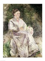 Portrait of Julie Velay, Wife of the Artist, 1874 by Camille Pissarro, 1874 - various sizes