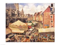 The Fair in Dieppe, Sunny Morning, 1901 by Camille Pissarro, 1901 - various sizes