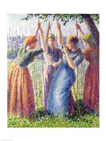 Women Planting Peasticks, 1891 by Camille Pissarro, 1891 - various sizes