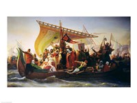 The Crossing of the Bosphorus by Godfrey of Bouillon Fine Art Print