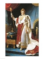 Napoleon I in his coronation robe, c.1804 Fine Art Print