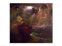 Ossian Conjuring up the Spirits on the Banks of the River Lora with the Sound of his Harp, 1801 Fine Art Print