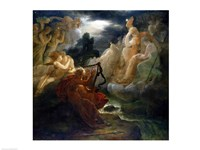 On the Bank of the Lora, Ossian Conjures up a Spirit with the Sound of his Harp, 1811 by Francois Gerard, 1811 - various sizes, FulcrumGallery.com brand