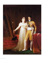Portrait of Jerome Bonaparte - with a woman by Francois Gerard - various sizes