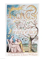 Songs of Innocence; Title Page, 1789 Fine Art Print