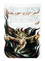 America a Prophecy; 'Thus wept the Angel voice', the emergence of Orc Fine Art Print