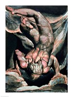 The First Book of Urizen; Man floating upside down, 1794 Fine Art Print