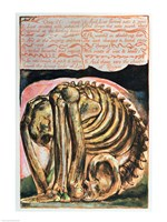 Book of Urizen; the creation of Urizen in material form by Los, 1794 Fine Art Print