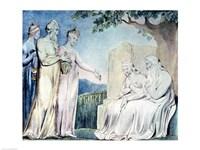 Illustrations of the Book of Job; Job accepting Charity, 1825 Fine Art Print