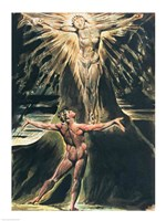 Jerusalem The Emanation of the Giant Albion; Albion before Christ crucified on the Tree of Knowledge and Good and Evil Fine Art Print