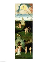 The Haywain: left wing of the triptych depicting the Garden of Eden, c.1500 Fine Art Print