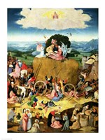 The Haywain: central panel of the triptych, c.1500 Fine Art Print