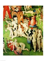 The Garden on Earthly Delights: Allegory of Luxury, central panel of triptych, c.1500 Fine Art Print