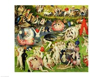 The Garden of Earthly Delights: Allegory of Luxury, center panel detail Fine Art Print