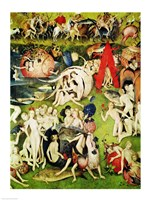 The Garden of Earthly Delights: Allegory of Luxury (vertical center panel detail) by Hieronymus Bosch - various sizes
